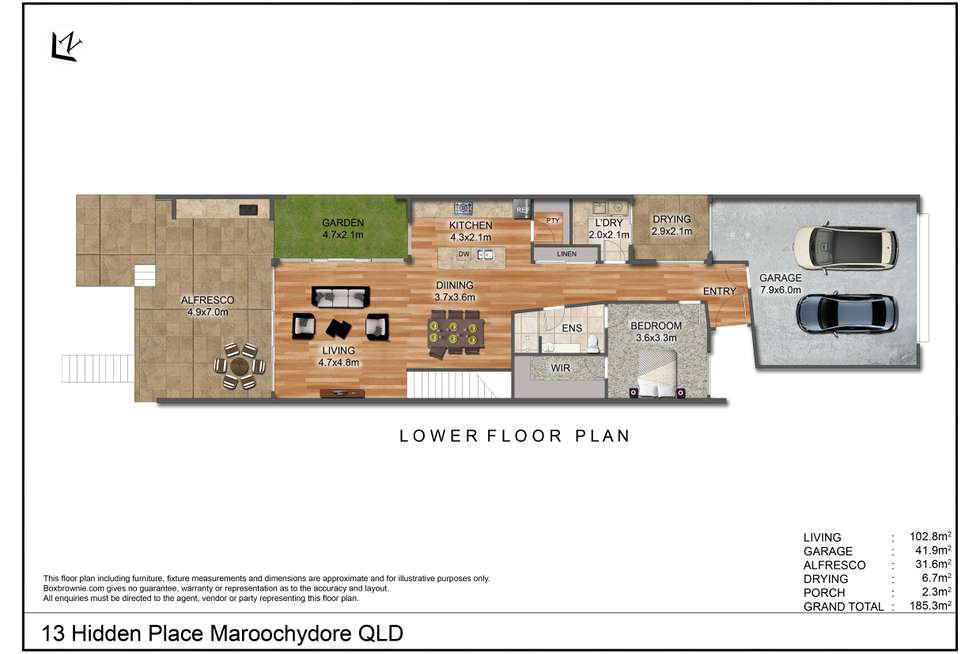 Floorplan of Homely house listing, 13 Hidden Place, Maroochydore QLD 4558
