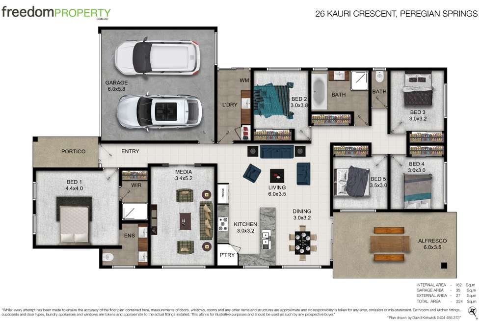 Floorplan of Homely house listing, 26 Kauri Crescent, Peregian Springs QLD 4573