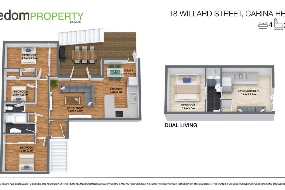 Floorplan of Homely house listing, 18 Willard Street, Carina Heights QLD 4152