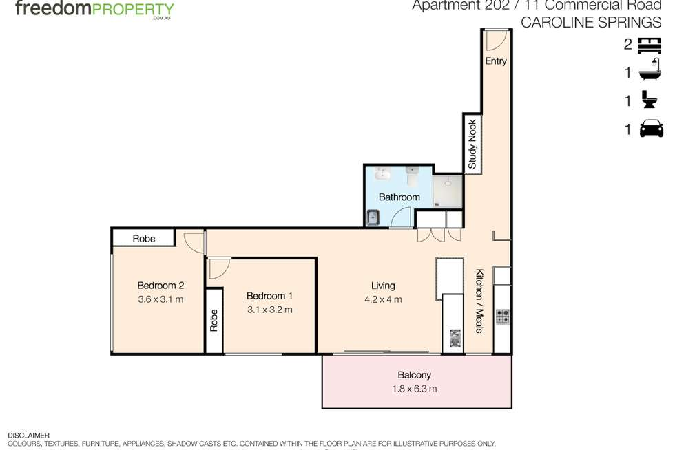 Floorplan of Homely apartment listing, 204/11 Commercial Road, Caroline Springs VIC 3023