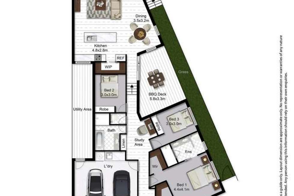 Floorplan of Homely house listing, 3 Godwit Place, Peregian Springs QLD 4573