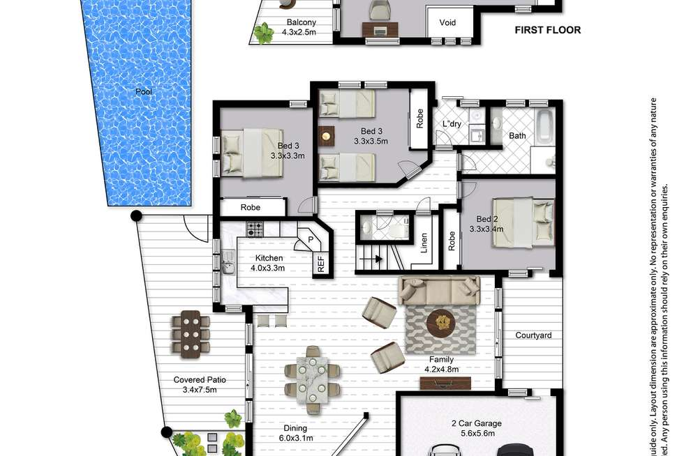 Floorplan of Homely house listing, 19 The Avenue, Peregian Springs QLD 4573