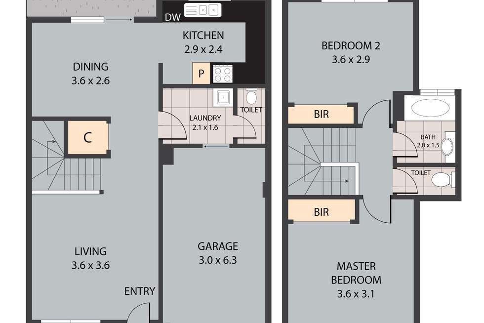 Floorplan of Homely townhouse listing, 40/223 Middle Street, Cleveland QLD 4163