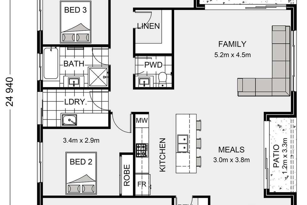 Floorplan of Homely house listing, Lot #7140 Kurrajong Circuit, Peregian Springs QLD 4573