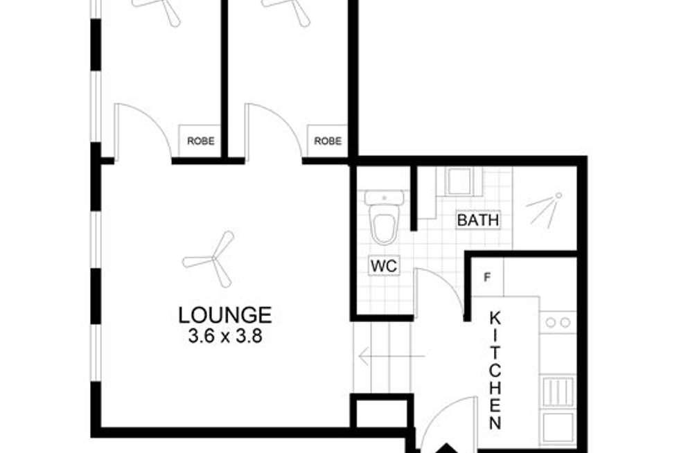Floorplan of Homely apartment listing, 106/23 King William Street, Adelaide SA 5000