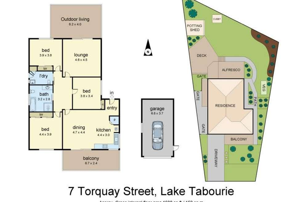 Floorplan of Homely house listing, 7 Torquay Drive, Lake Tabourie NSW 2539