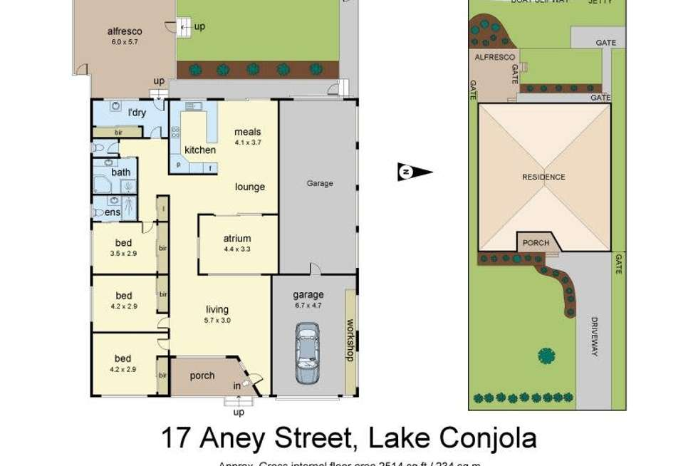 Floorplan of Homely house listing, 17 Aney Street, Lake Conjola NSW 2539