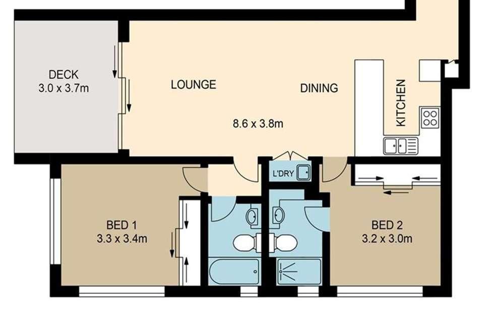 Floorplan of Homely unit listing, 2A/36 Buruda Street, Chermside QLD 4032