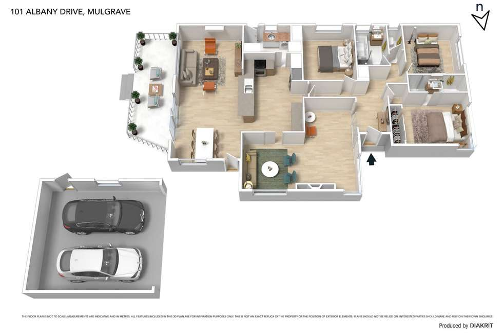 Floorplan of Homely house listing, 101 Albany Drive, Mulgrave VIC 3170