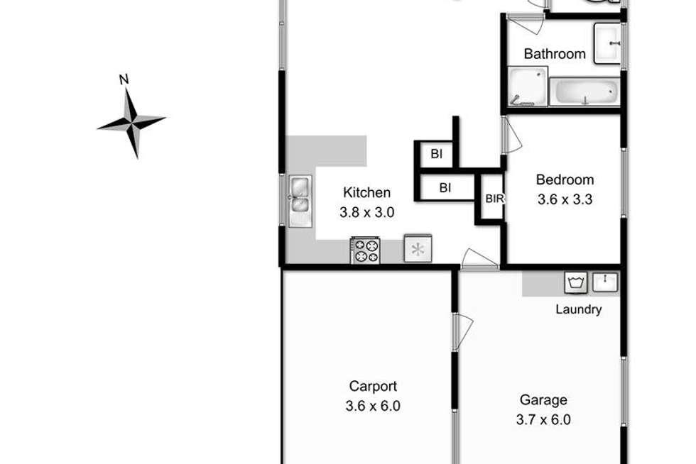 Floorplan of Homely unit listing, 2/20 Pollock Place, Sorell TAS 7172