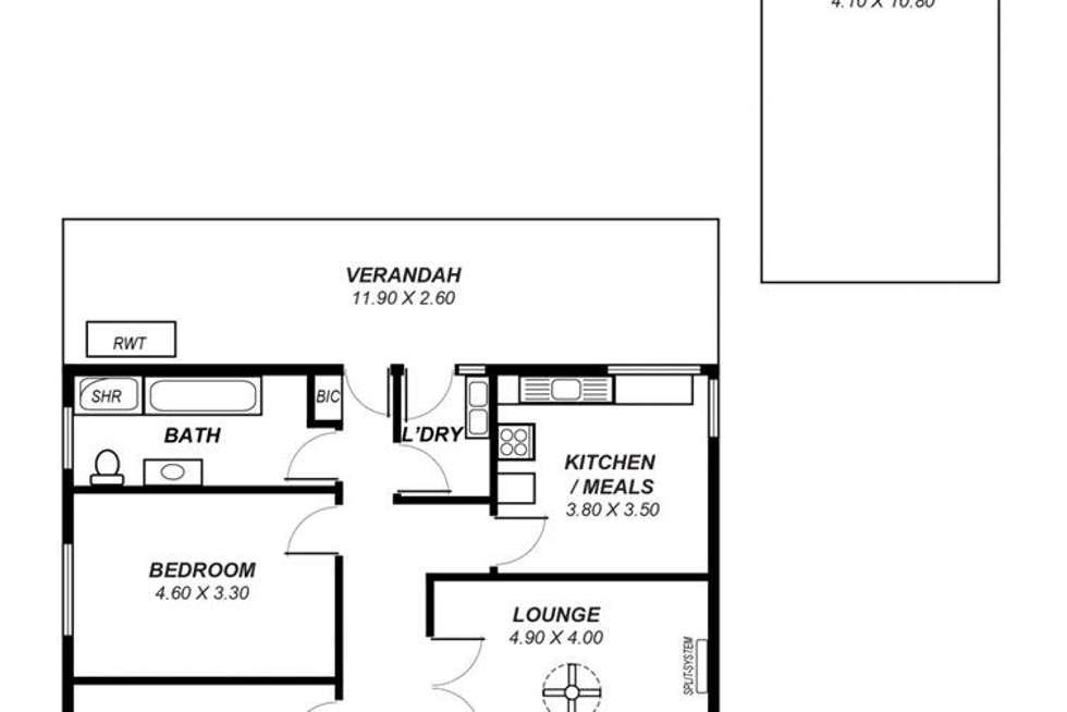 Floorplan of Homely house listing, 133 Third Avenue, Royston Park SA 5070
