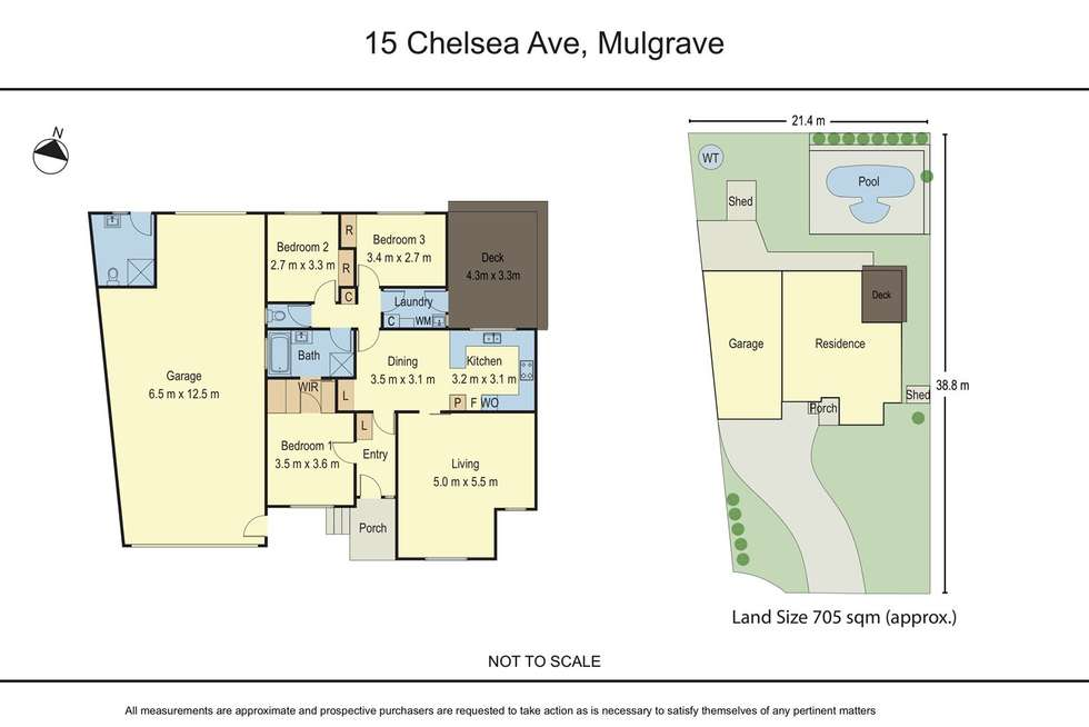 Floorplan of Homely house listing, 15 Chelsea Avenue, Mulgrave VIC 3170