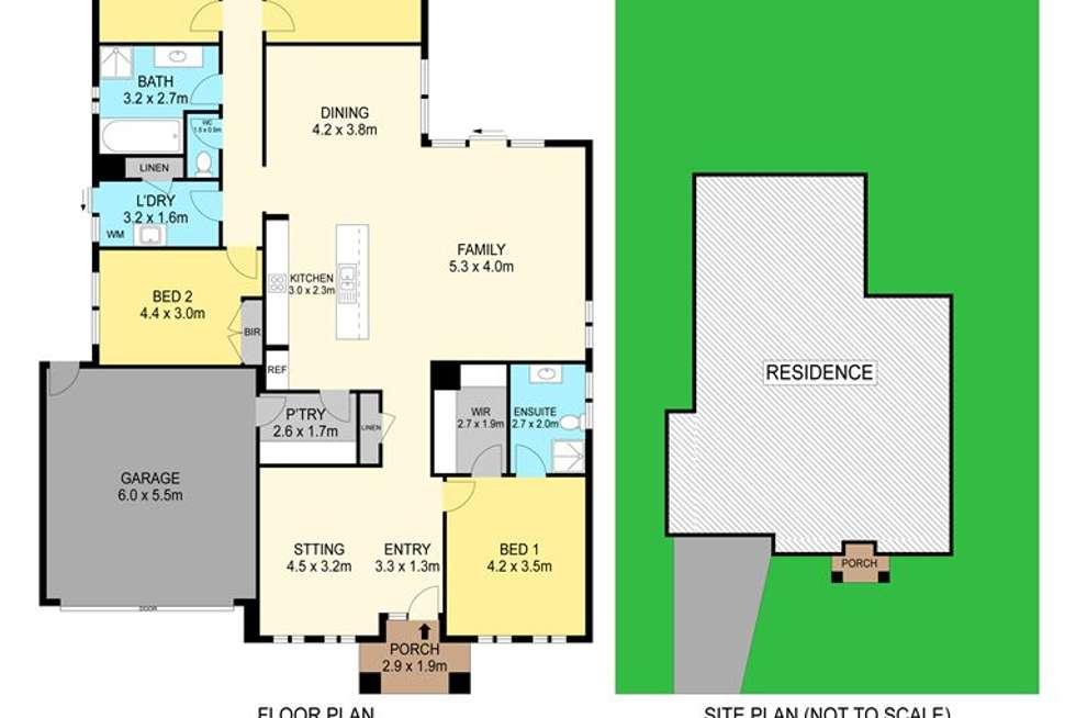 Floorplan of Homely house listing, 8 Naroo Street, Alfredton VIC 3350