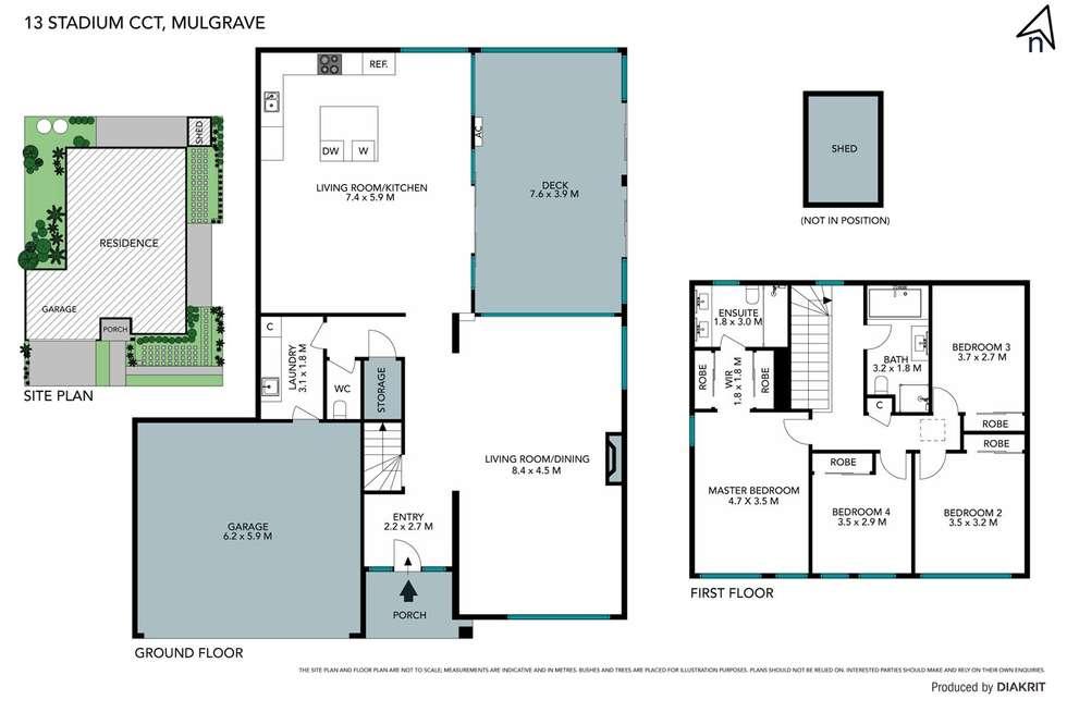 Floorplan of Homely house listing, 13 Stadium Circuit, Mulgrave VIC 3170
