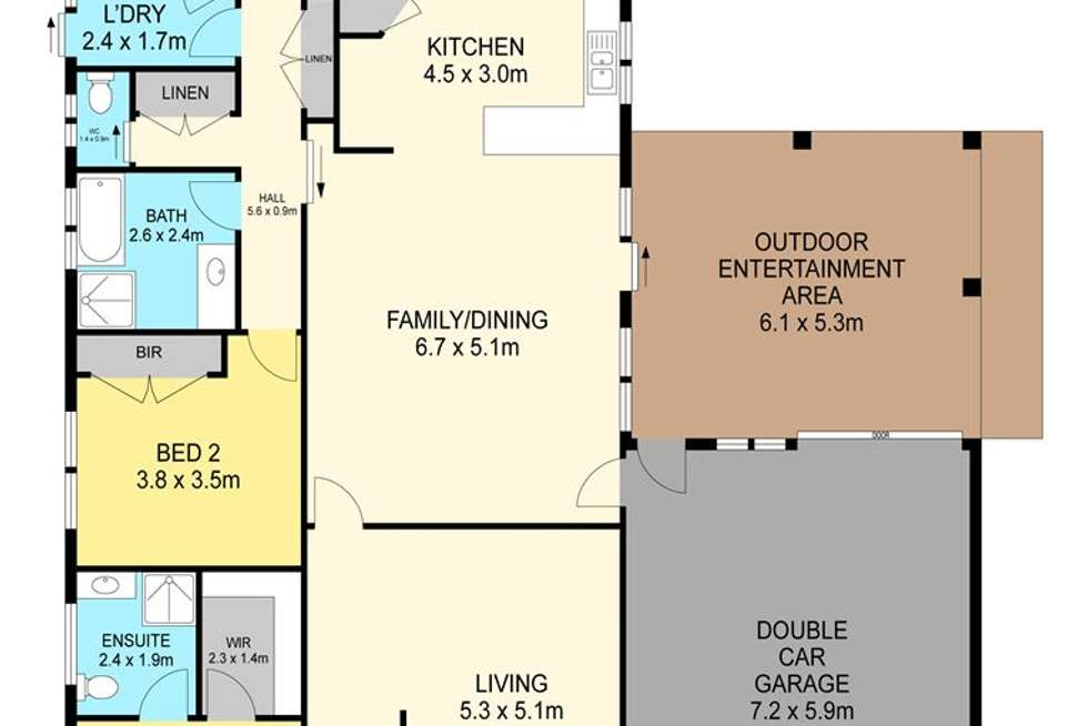 Floorplan of Homely house listing, 12 Nimble Drive, Delacombe VIC 3356