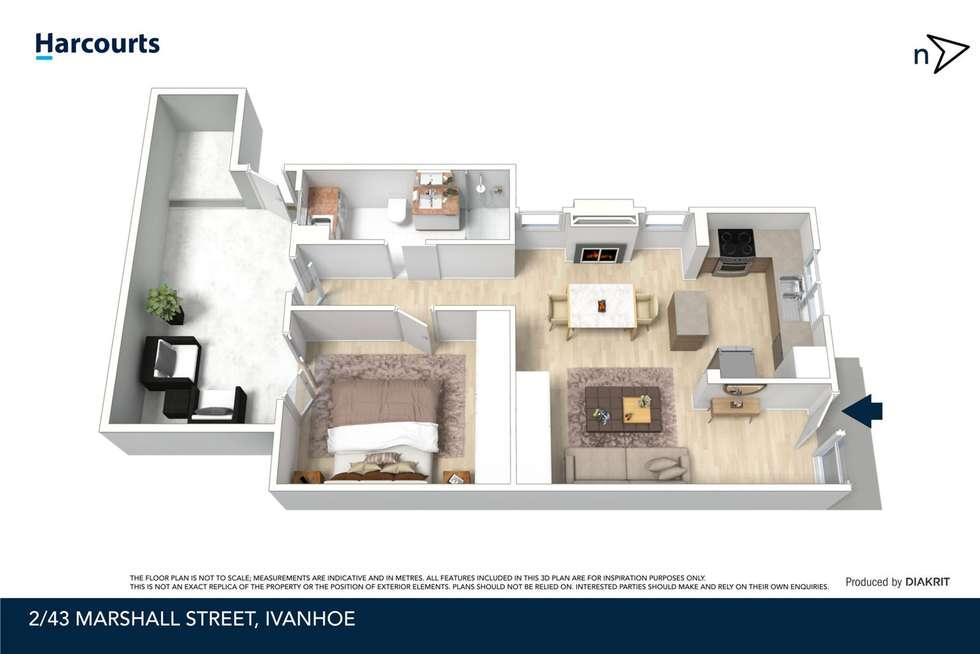 Floorplan of Homely unit listing, 2/43 Marshall Street, Ivanhoe VIC 3079