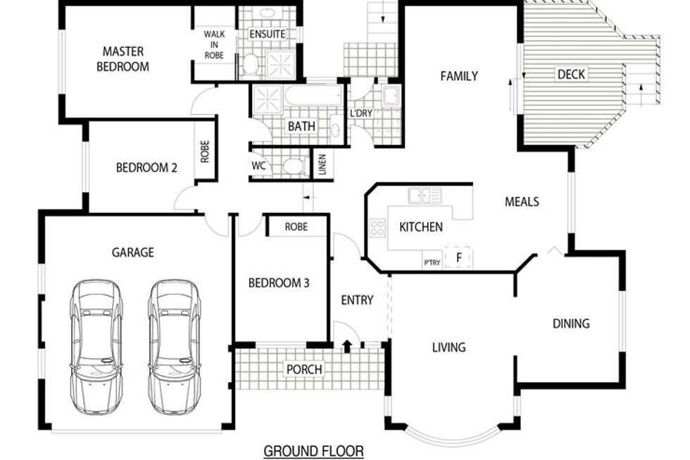 Floorplan of Homely townhouse listing, 8/4 Lind Close, Fraser ACT 2615
