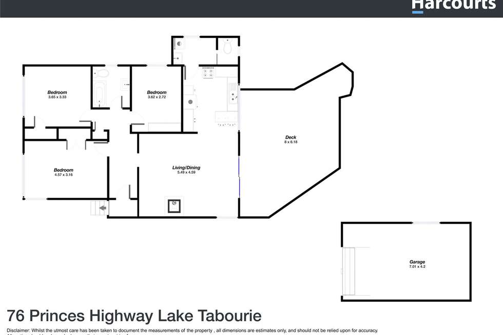 Floorplan of Homely house listing, 76 Princes Highway, Lake Tabourie NSW 2539