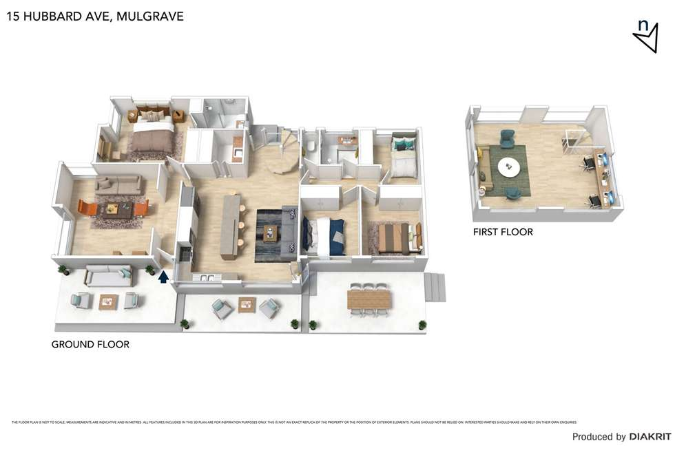 Floorplan of Homely house listing, 15 Hubbard Avenue, Mulgrave VIC 3170