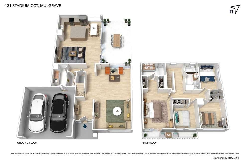 Floorplan of Homely house listing, 131 Stadium Circuit, Mulgrave VIC 3170