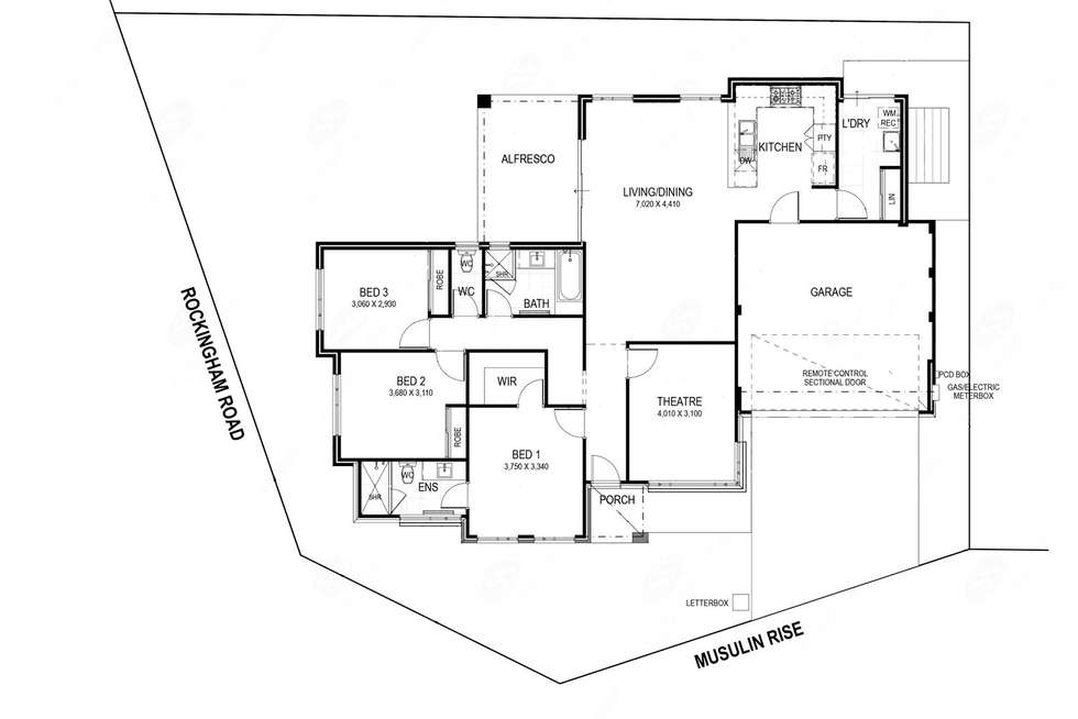 Floorplan of Homely residentialLand listing, 2A Musulin Rise, Munster WA 6166