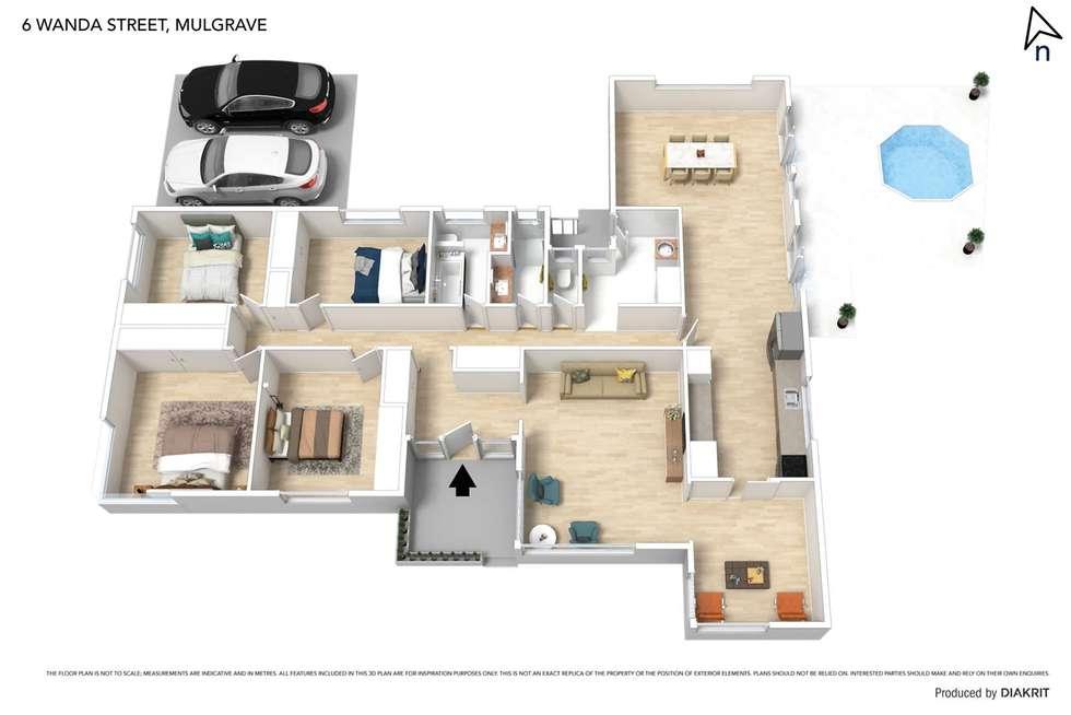 Floorplan of Homely house listing, 6 Wanda Street, Mulgrave VIC 3170
