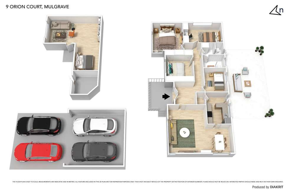 Floorplan of Homely house listing, 9 Orion Court, Mulgrave VIC 3170