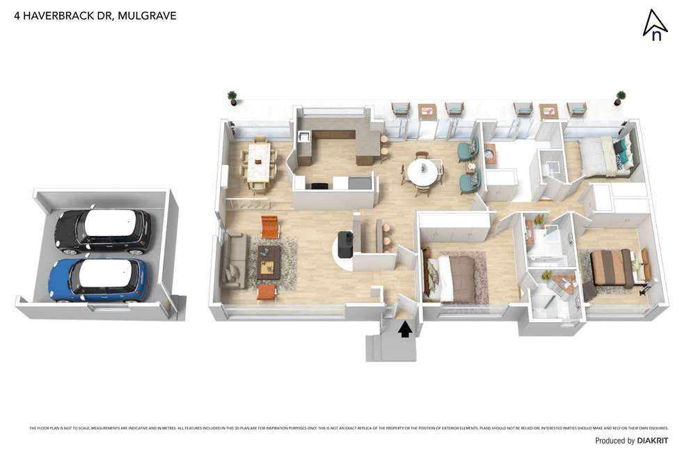 Floorplan of Homely house listing, 4 Haverbrack Drive, Mulgrave VIC 3170