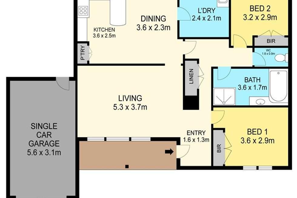 Floorplan of Homely unit listing, 2/66 Albert Street, Sebastopol VIC 3356