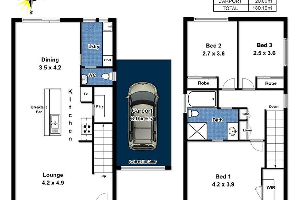 Floorplan of Homely townhouse listing, 1/24 - 26 Grazing Avenue, Morphett Vale SA 5162