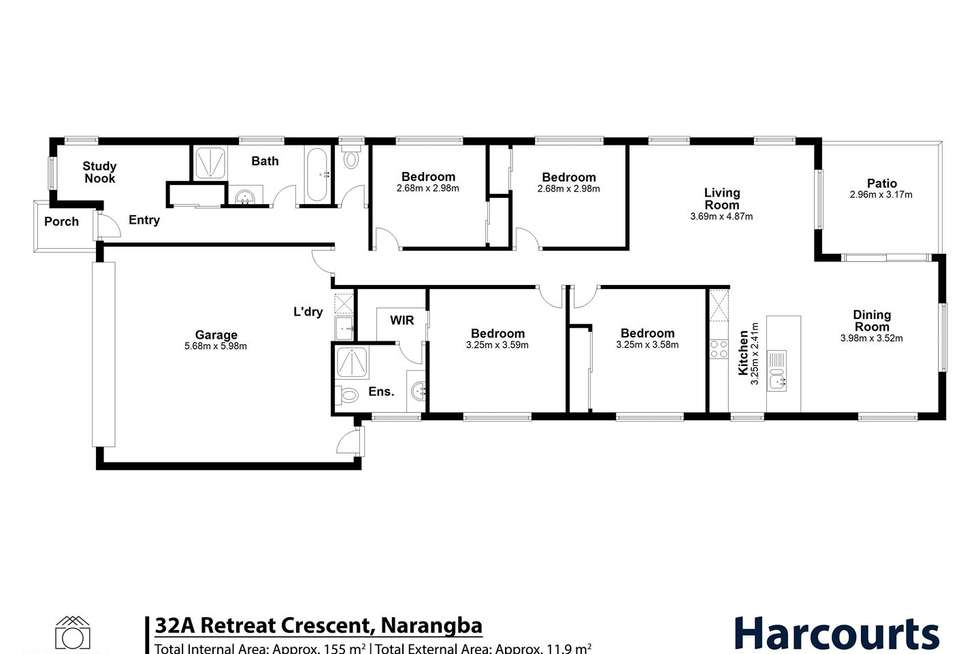 Floorplan of Homely house listing, 32A Retreat Cres, Narangba QLD 4504