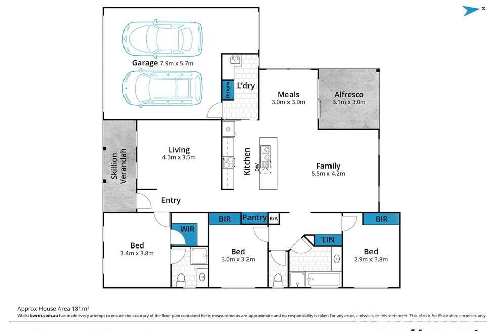 Floorplan of Homely house listing, 18 Moorabool Drive, Ballan VIC 3342