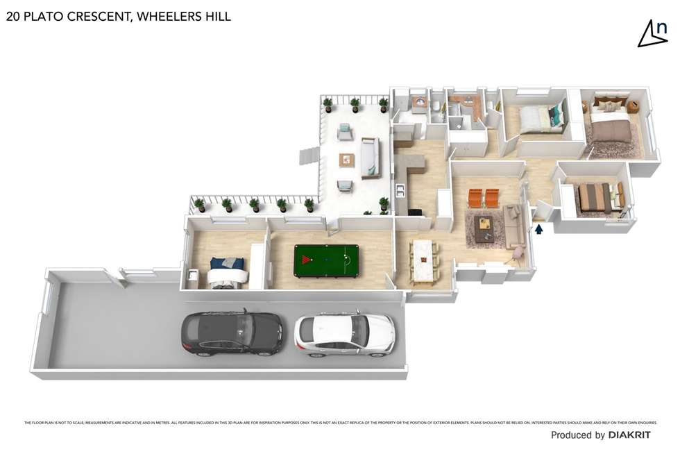 Floorplan of Homely house listing, 20 Plato Crescent, Wheelers Hill VIC 3150