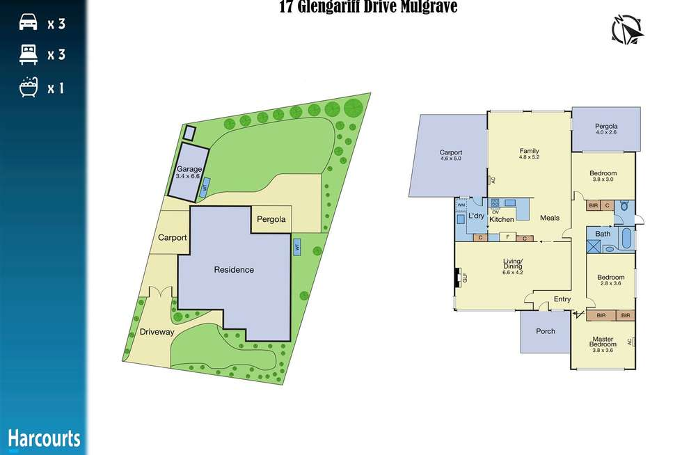 Floorplan of Homely house listing, 17 Glengariff Drive, Mulgrave VIC 3170