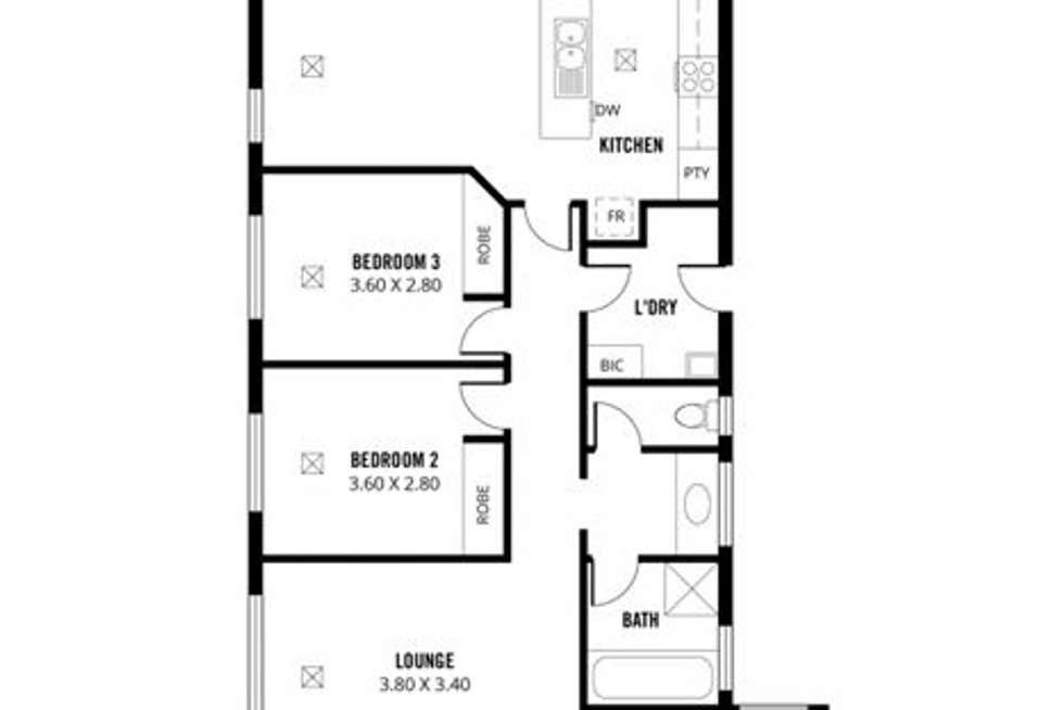Floorplan of Homely house listing, 20 Davis Street, Woodville South SA 5011