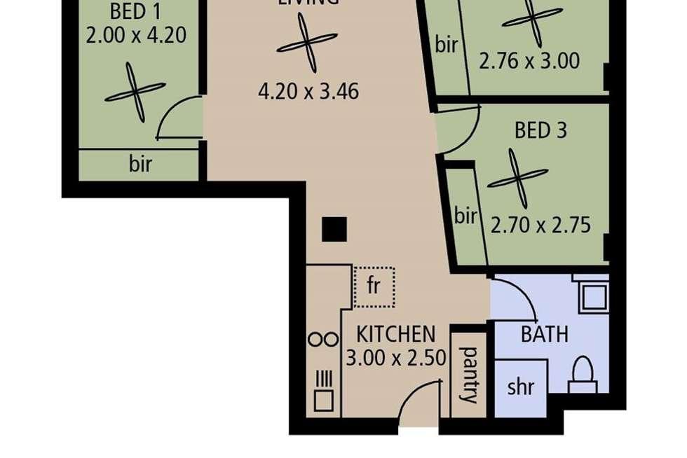 Floorplan of Homely apartment listing, 905/23 King William Street, Adelaide SA 5000