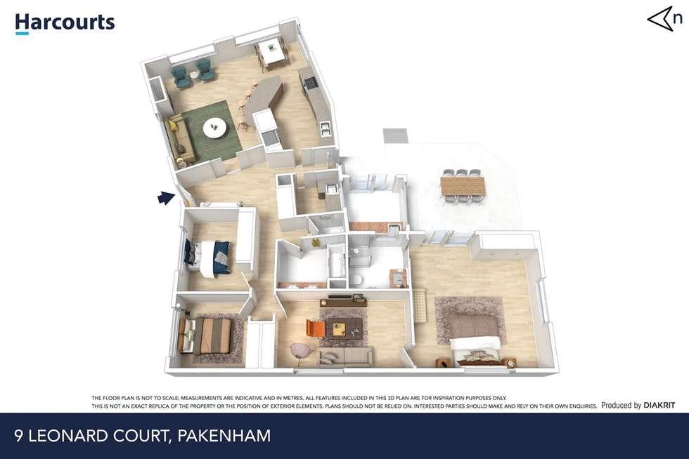 Floorplan of Homely house listing, 9 Leonard Court, Pakenham VIC 3810