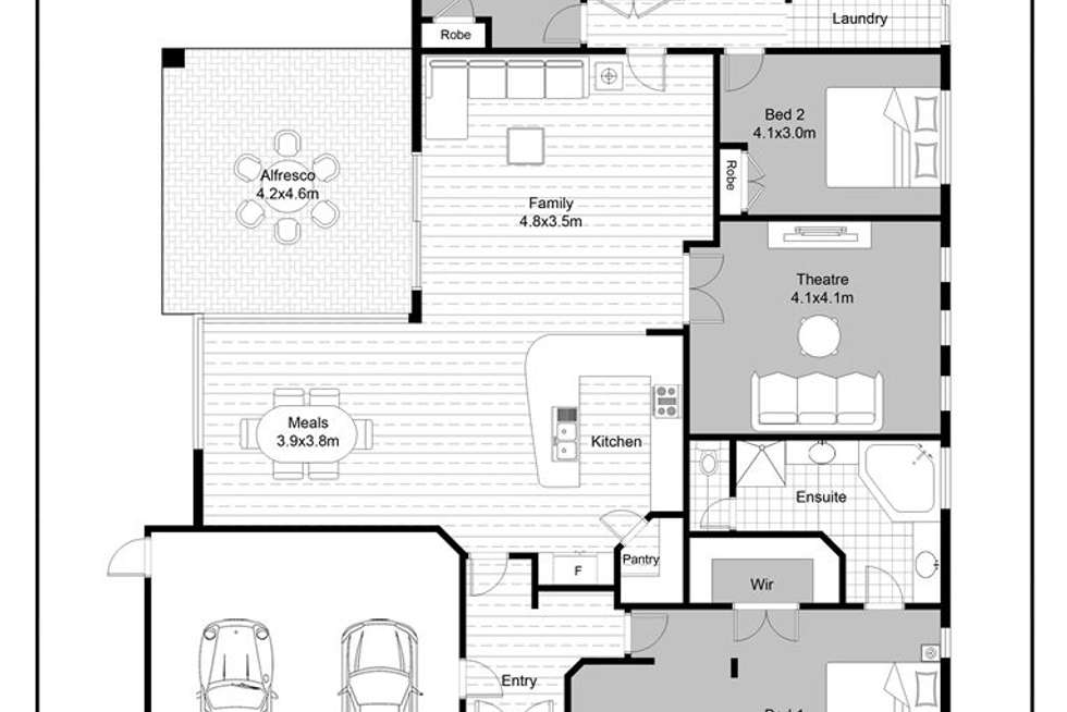 Floorplan of Homely house listing, 15 Whyalla Chase, Tapping WA 6065