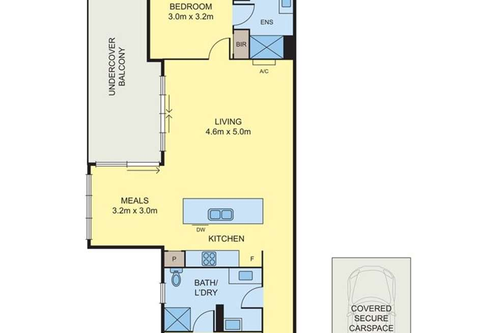 Floorplan of Homely apartment listing, 110/78 Epping Road, Epping VIC 3076