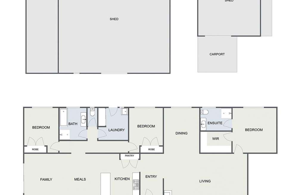 Floorplan of Homely ruralOther listing, 1533 Ghin Ghin Road, Yea VIC 3717
