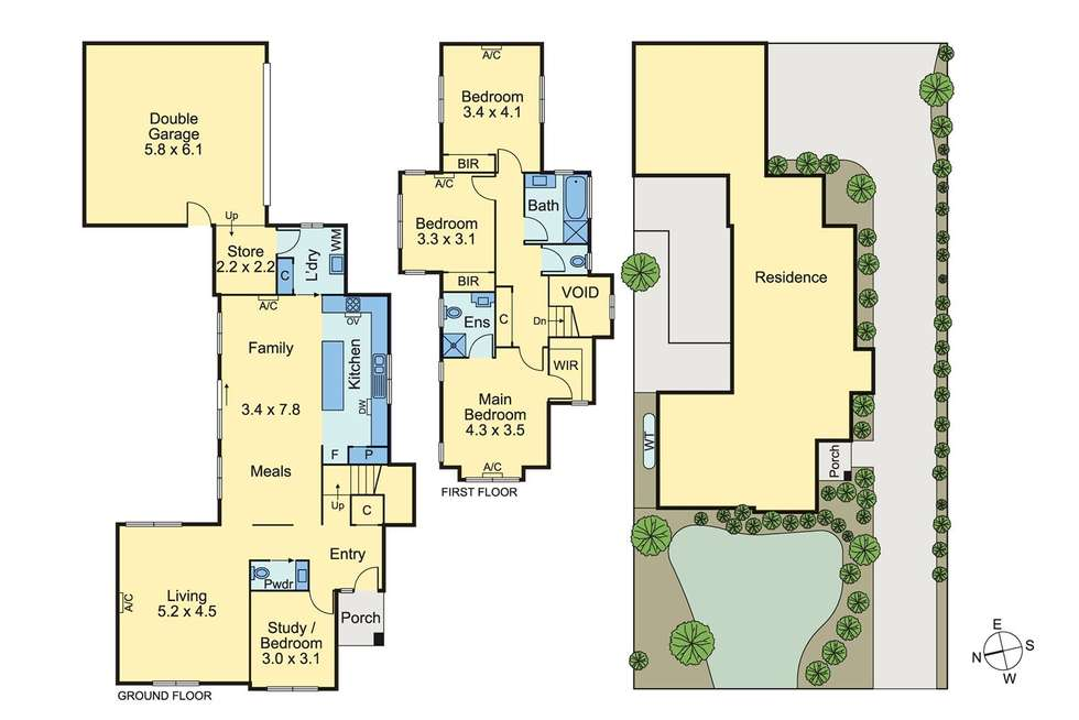 Floorplan of Homely townhouse listing, 1/14 Saxton Street, Box Hill North VIC 3129