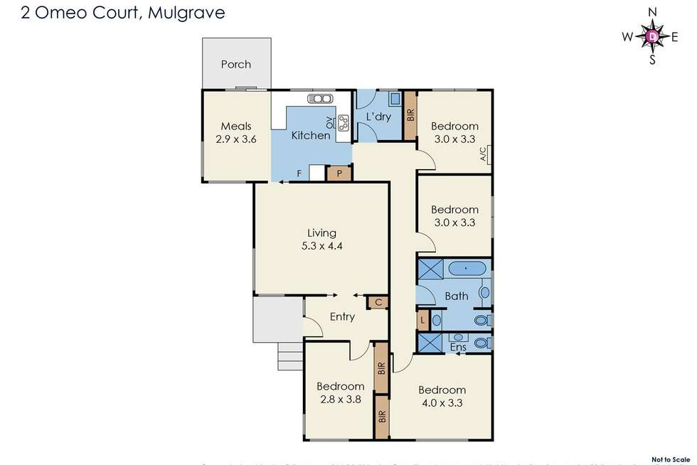 Floorplan of Homely house listing, 2 Omeo Court, Mulgrave VIC 3170