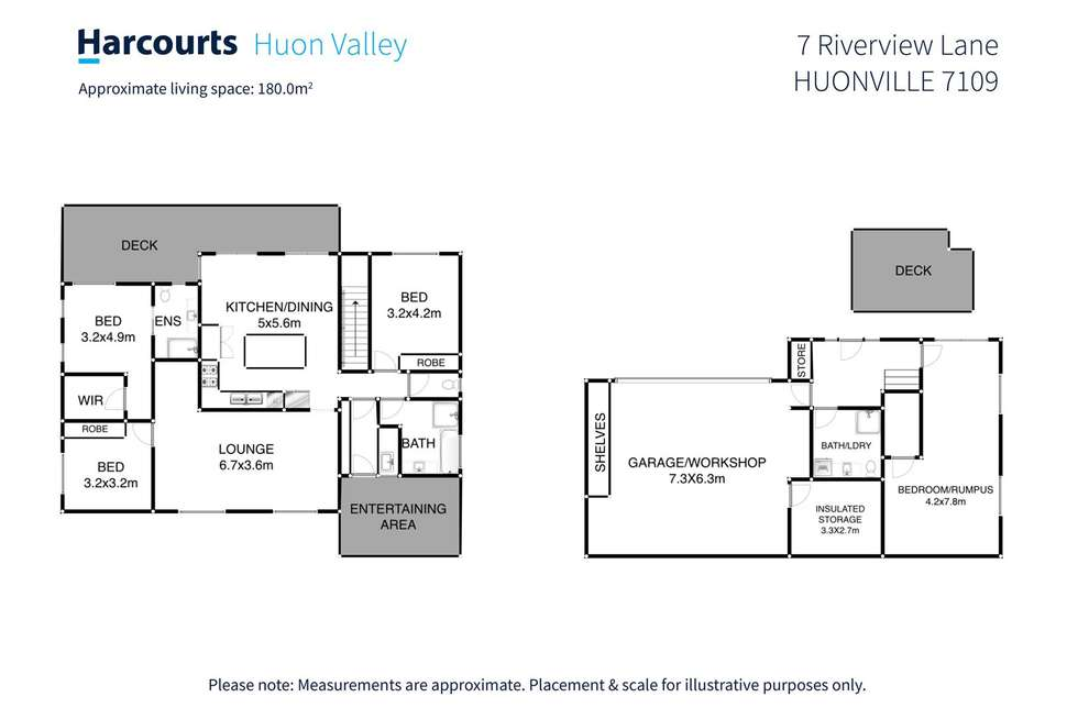 Floorplan of Homely house listing, 7 Riverview Lane, Huonville TAS 7109