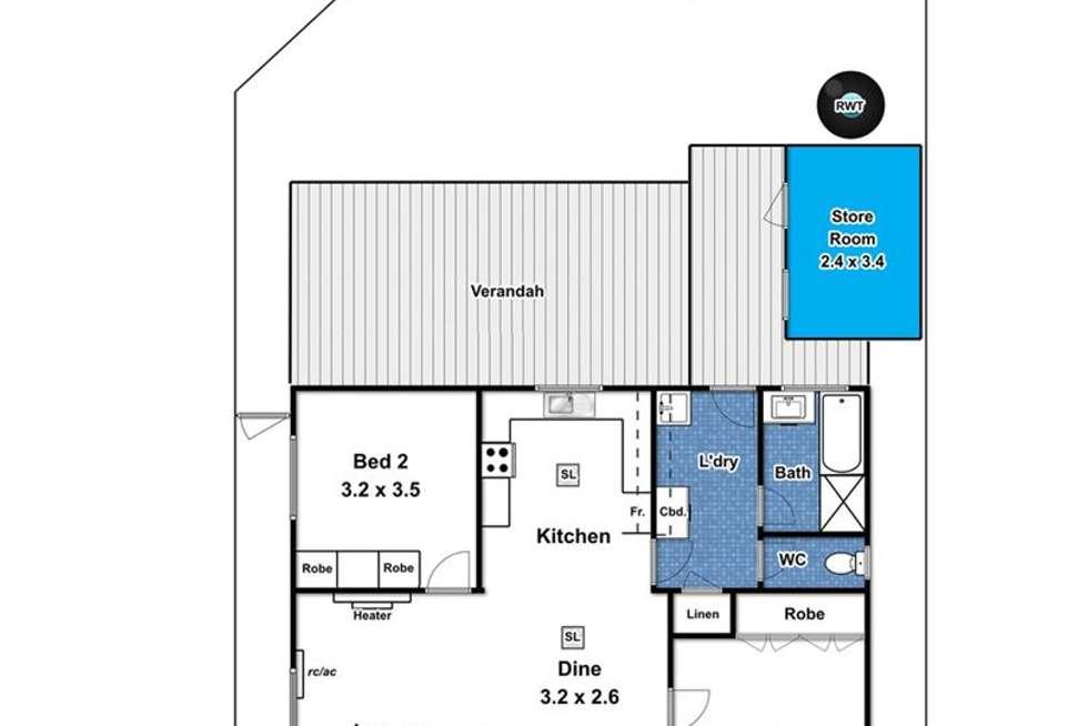 Floorplan of Homely house listing, 70 Fenton Street, Christies Beach SA 5165
