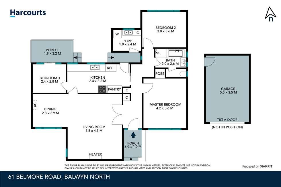Floorplan of Homely house listing, 61 Belmore Road, Balwyn North VIC 3104