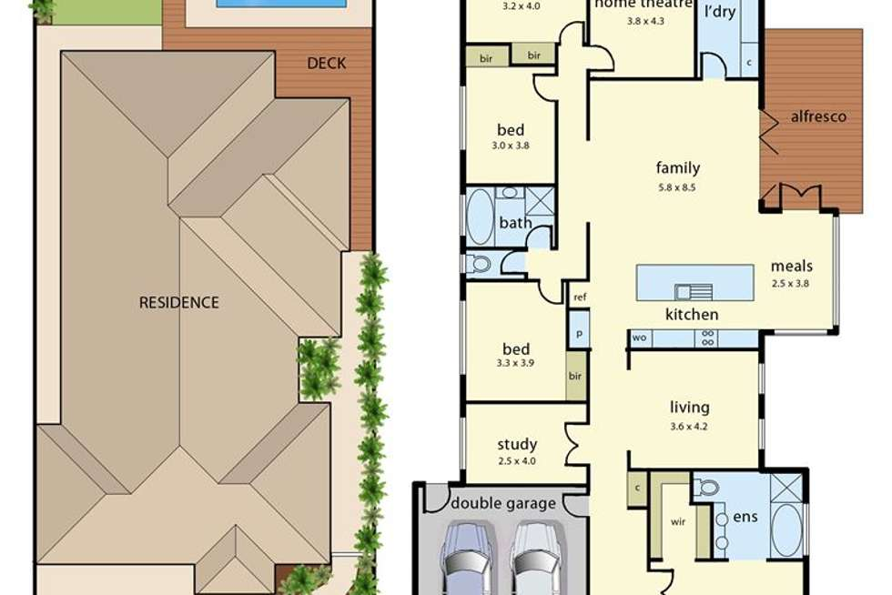 Floorplan of Homely house listing, 4 Rose Bush Court, Lyndhurst VIC 3975