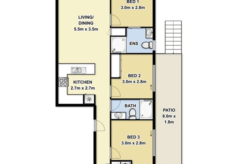 Floorplan of Homely apartment listing, 2/82 Grenfell Street, Mount Gravatt QLD 4122
