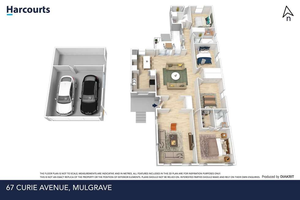 Floorplan of Homely house listing, 67 Curie Avenue, Mulgrave VIC 3170
