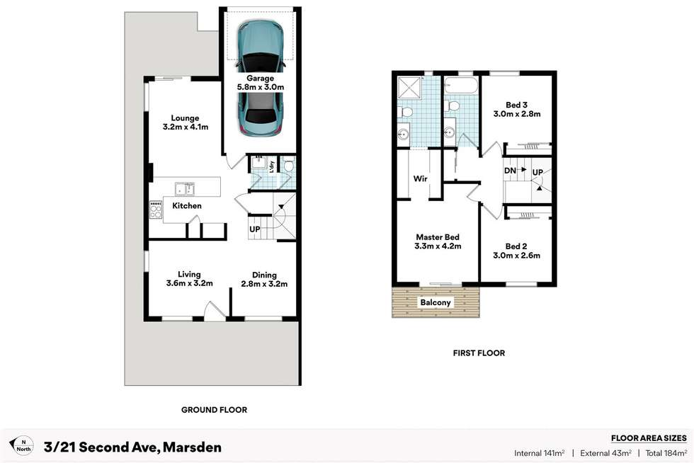 Floorplan of Homely townhouse listing, 3/21-29 Second Avenue, Marsden QLD 4132