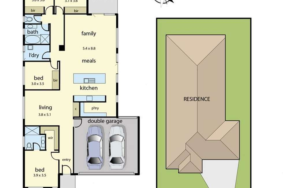 Floorplan of Homely house listing, 9 Saxon Road, Drouin VIC 3818